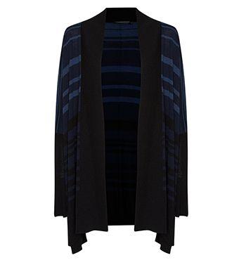 Merino Stripe Waterfall Knit Cardi