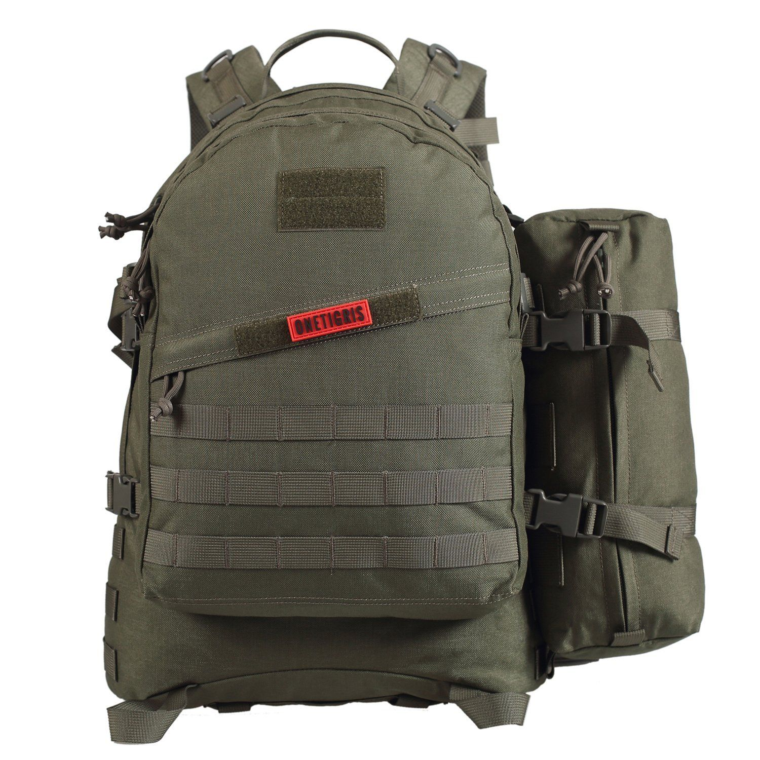 e4eeefc65f OneTigris BUSHCRAFTER 50L 3 Day Pack MOLLE Tactical Military Assault  Backpack Outdoor Sport Camping Hiking Trekking EDC Survival Rucksack     Save this ...