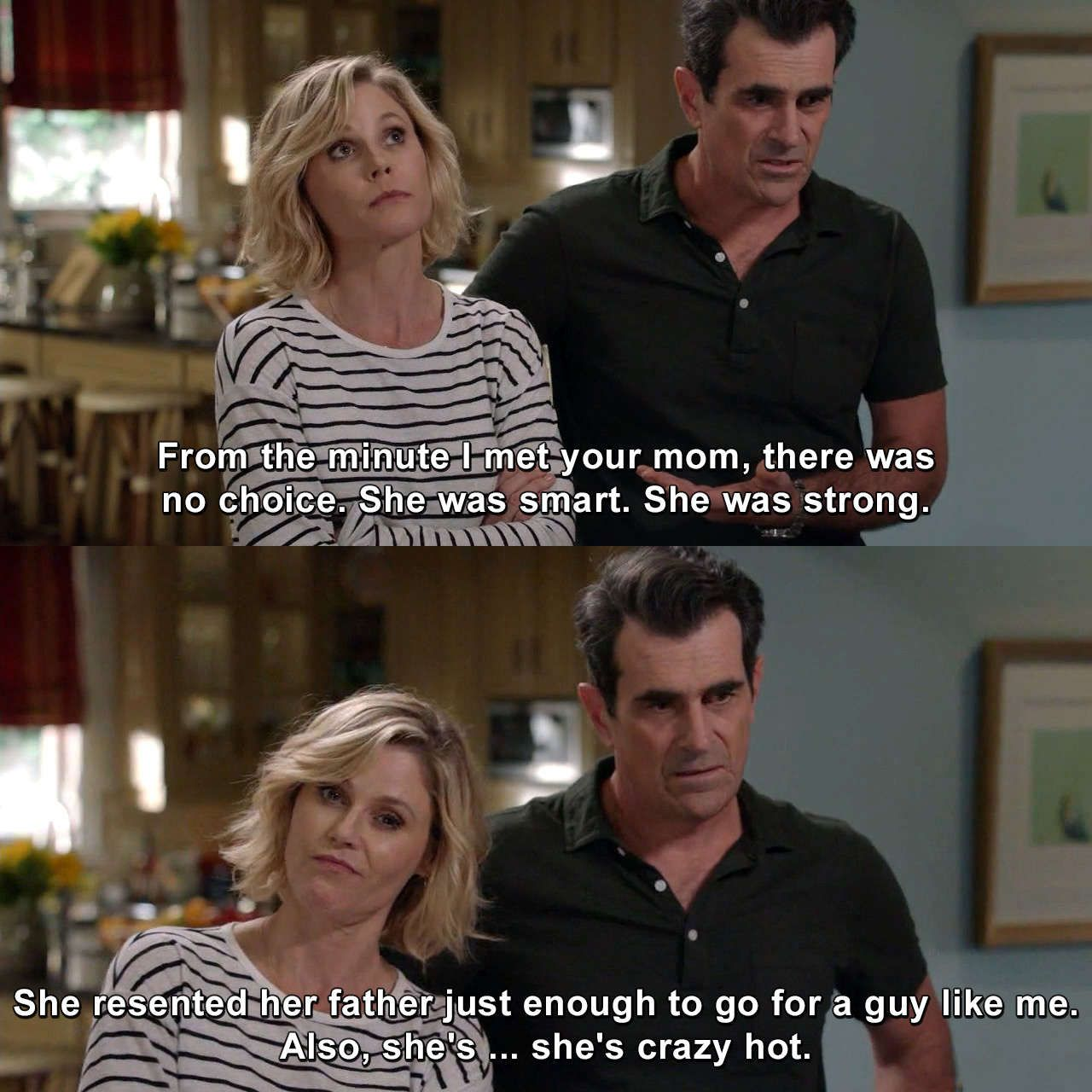 Claire And Phil Phildunphy Clairedunphy Modernfamily Tornbetweentwolovers Humor Lmao Lol Meme Modern Family Funny Modern Family Phil Modern Family