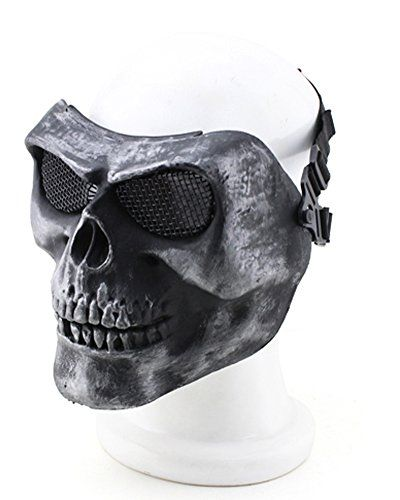 YX Metallic Mask For Bicycling/ Halloween/ Skull Skeleton/ Airsoft/ Paintball/ BB Gun, A Full Face Protection Mask Shot Helmets - http://www.amazon4all.net/yx-metallic-mask-for-bicycling-halloween-skull-skeleton-airsoft-paintball-bb-gun-a-full-face-protection-mask-shot-helmets/