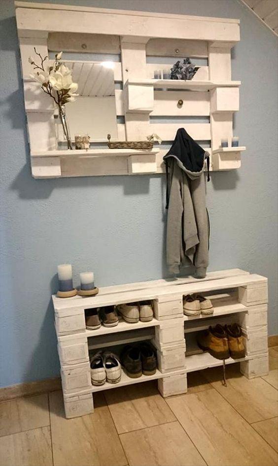 d co en bois de palettes 20 id es magnifiques palettes en bois pinterest palette deco. Black Bedroom Furniture Sets. Home Design Ideas