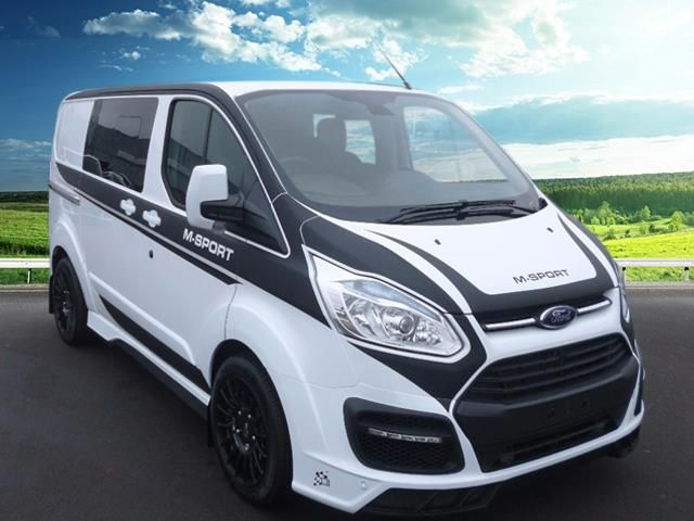 Ford Transit Custom Ford Transit Custom Special Edition M Sport Double Cab In Van 2 2hdi 155ps In Frozen White With B Transit Custom Ford Transit Vans Stickers