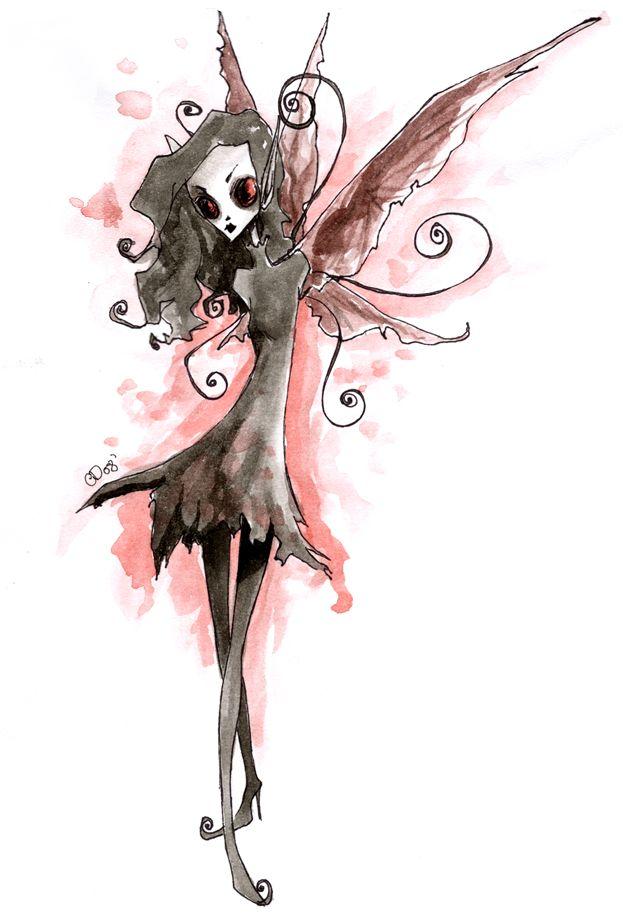 Dark Fairy by Lithium-Tears.deviantart.com on @DeviantArt