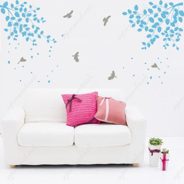 Branch Wall Decals Removable Wall Vinyl - Elegant Branches ...