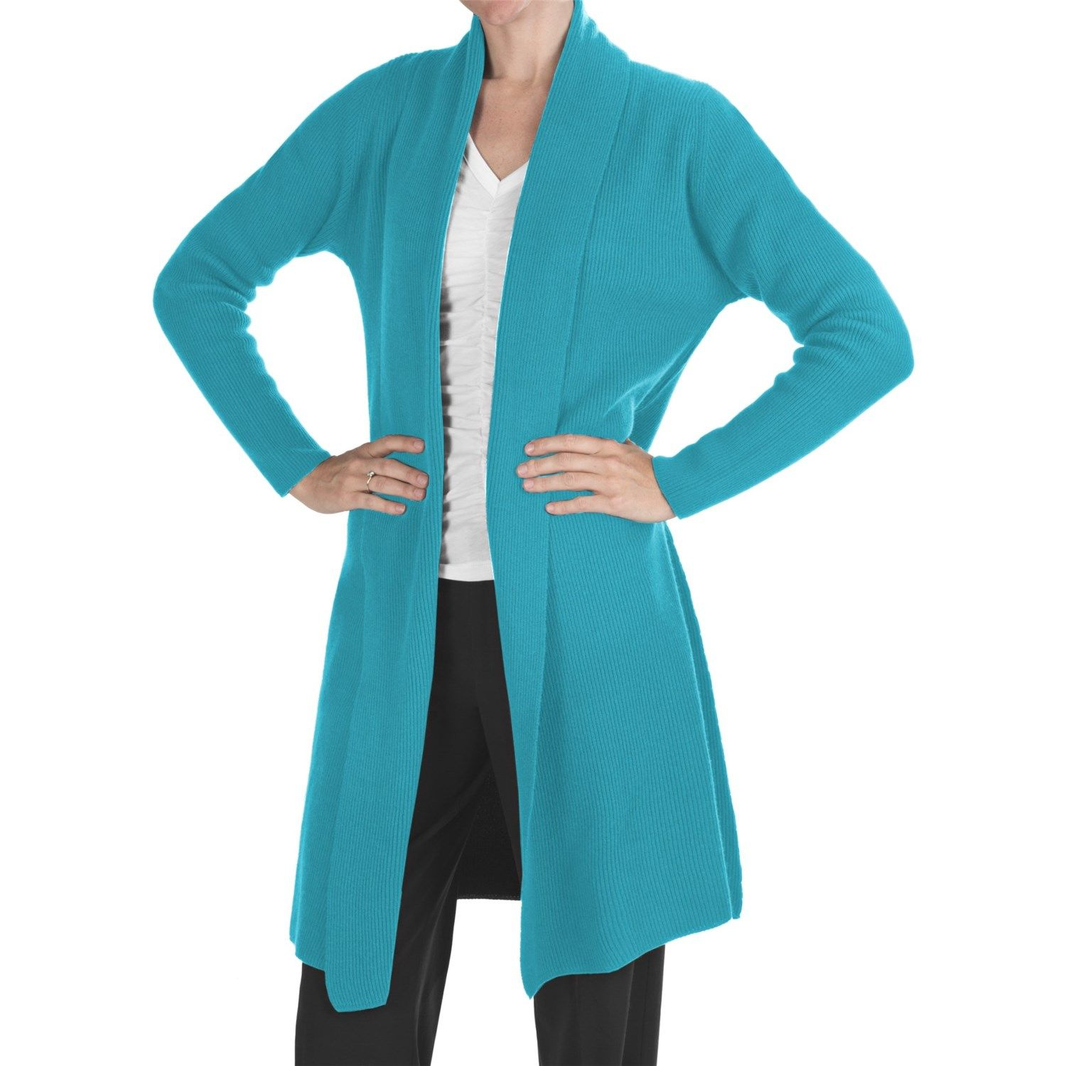 Johnstons of Elgin Long Cashmere Cardigan Sweater (For Women ...