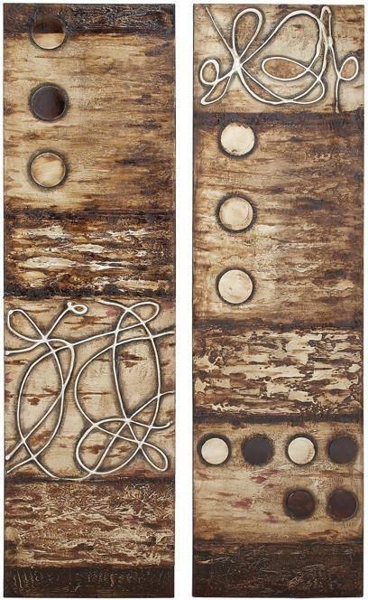 Benzara 55521 Wooden Canvas Wall Art