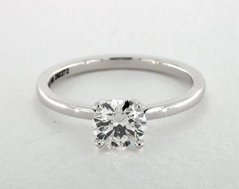 .9ct Solitaire Round Engagement Ring White Gold