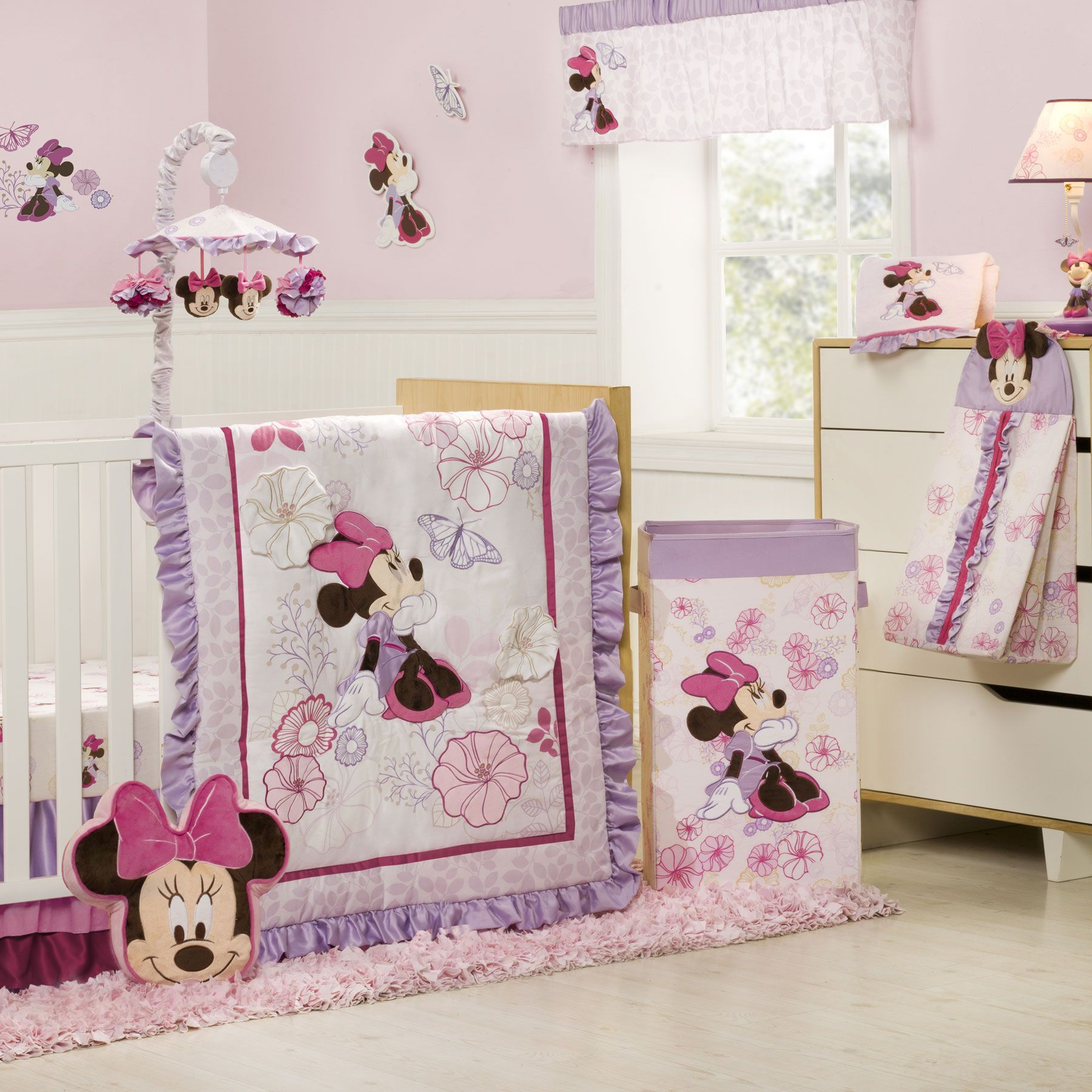 MINNIE MOUSE Butterfly Dreams 4 Piece Crib Bedding Set