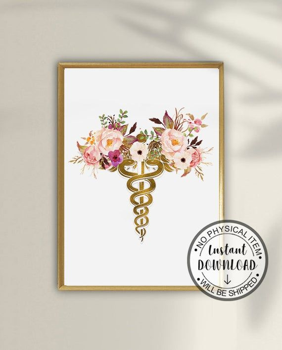 Medical School Graduation Gift, Medical Art Print, Doctor Gift, Doctor Office Decor, Caduceus Art Medical Print Medical Gift Medical Student