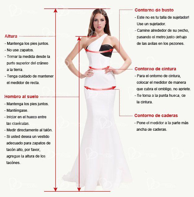 Resultado de imagen para como tomar medida vestidos