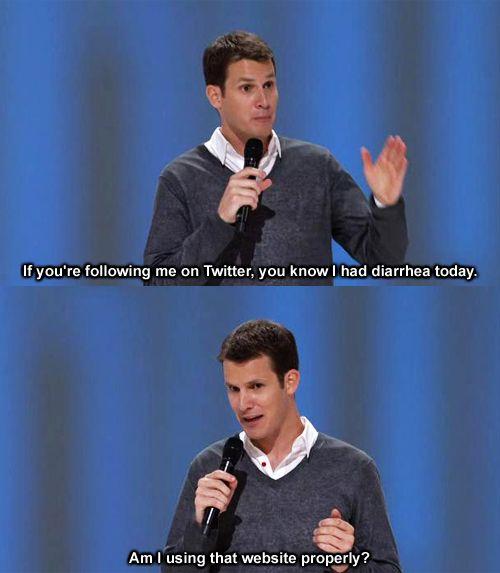 Daniel Tosh on twitter | Daniel tosh, Laughed until we ...
