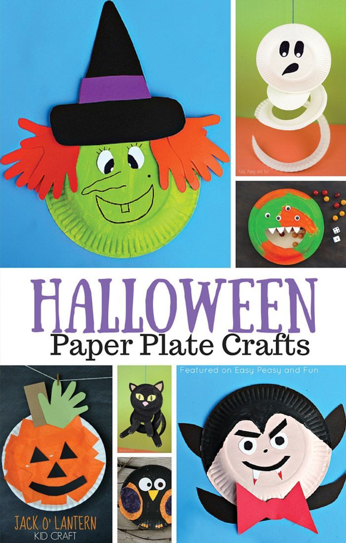 Halloween Paper Plate Crafts for Kids Paper plate crafts, Easy - halloween kids craft ideas