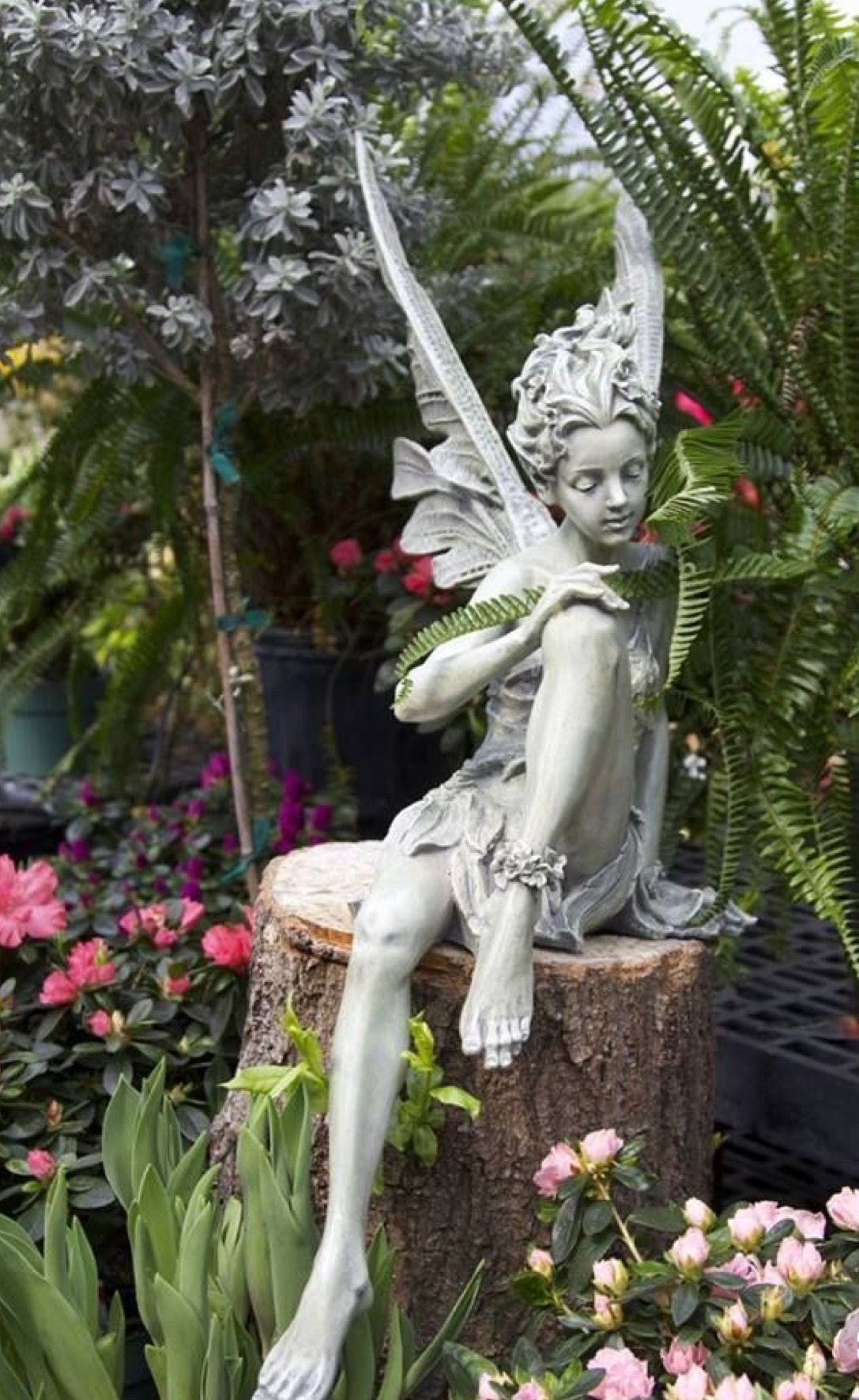 Statues In The Garden Fairy Statues My Fairy Garden Garden Ornaments