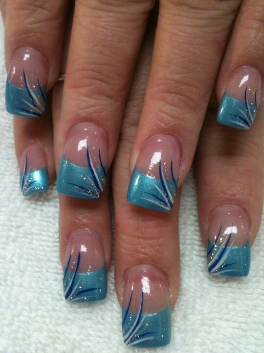 Pin By Maria Uchytil On Makeup Nails French Manicure Nails French Tip Nail Designs Turquoise Nail Designs