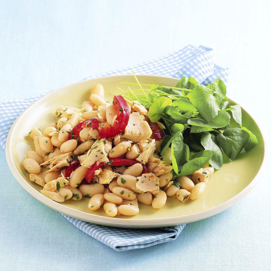 Tuna Cannellini Bean Salad Cannellini Bean Salad Bean Salad Food Network Recipes