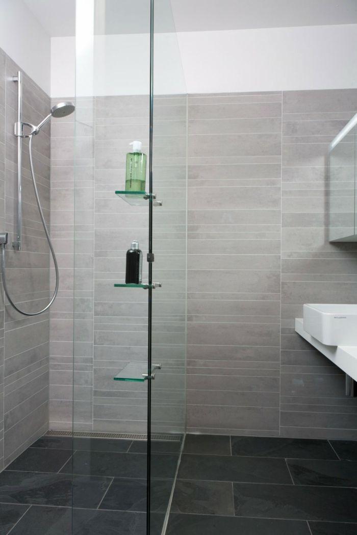Pin Von Kerstin Auf Einrichten U0026 DIY   Pinterest   Badezimmer, Fliesen Und Graue  Fliesen