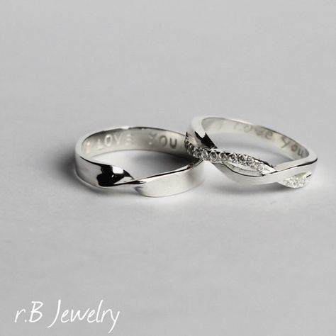customized item sterling silver couples rings for accessories ring in from jewelry on promise infinity heart engraved birthstone her