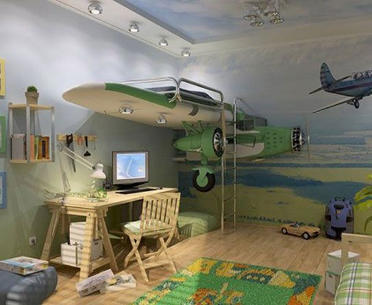Airplane Room Decor Bedroom Kids Theme Bedrooms Themed Rooms
