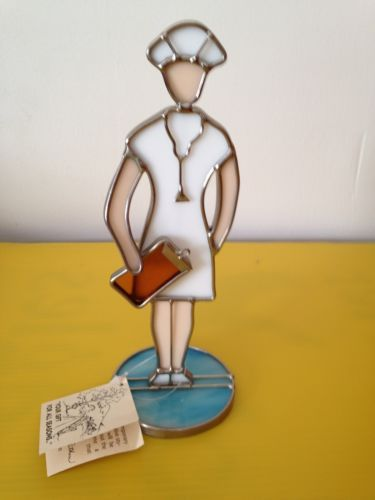 Hand crafted stained glass Nurse figurine