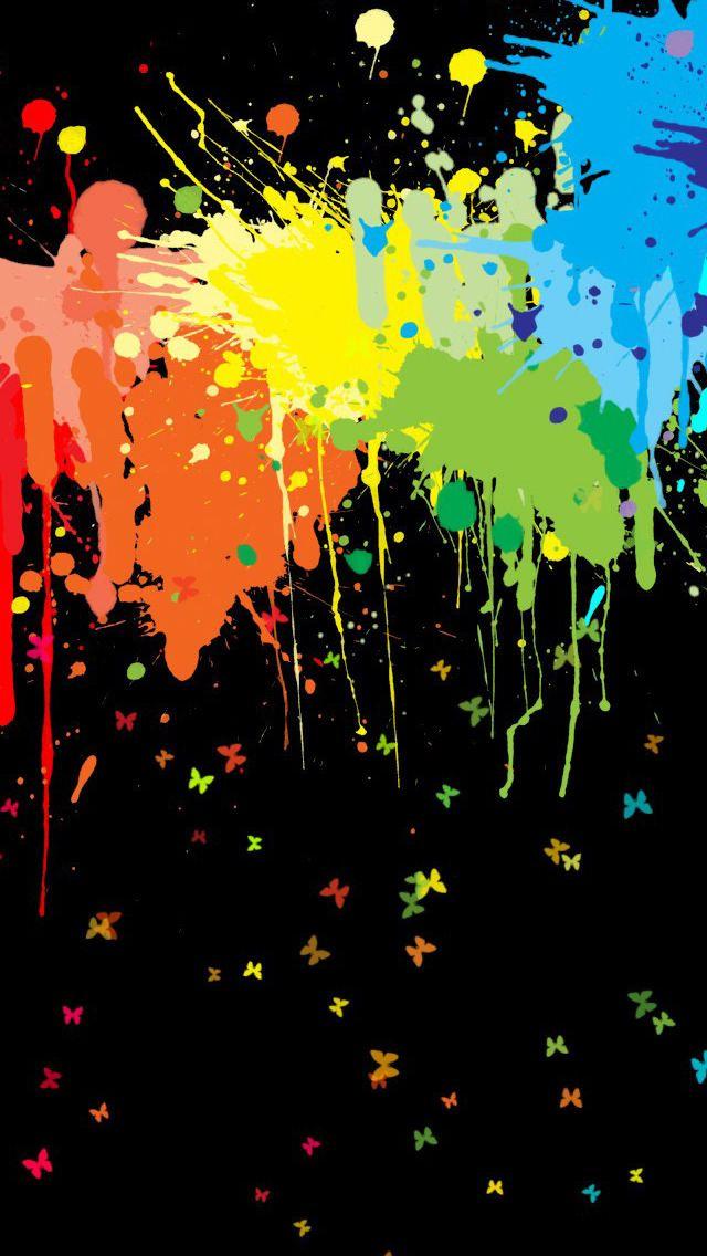 Color Splash Iphone 5s Wallpaper Download Iphone Wallpapers Ipad Wallpapers One Stop Download Rainbow Painting Rainbow Wallpaper Abstract Wallpaper