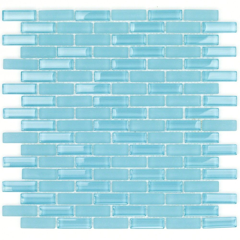 Loft Turquoise 1/2x2 Brick Pattern Glass Tile | Pinterest | Brick ...
