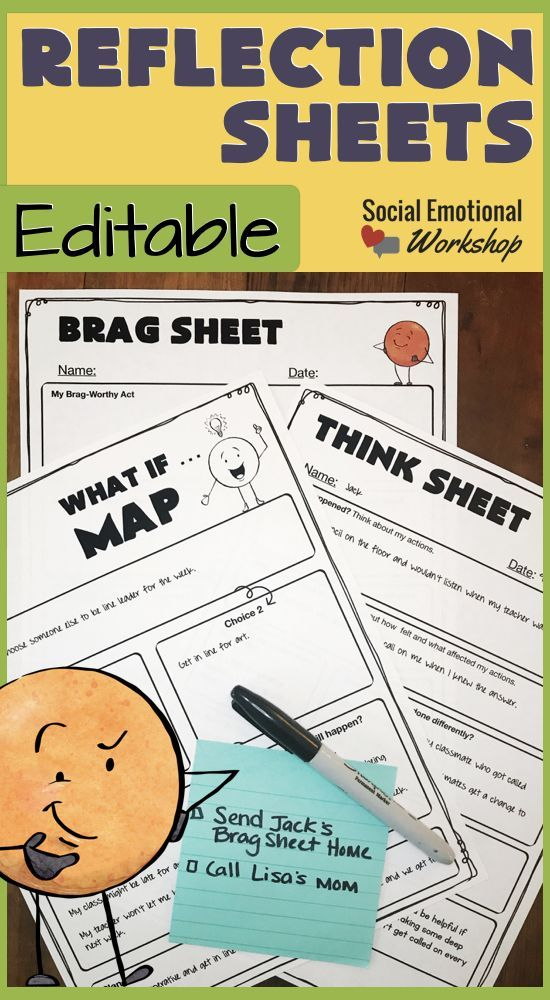 Editable Behavior Reflection Sheets for Positive and Negative