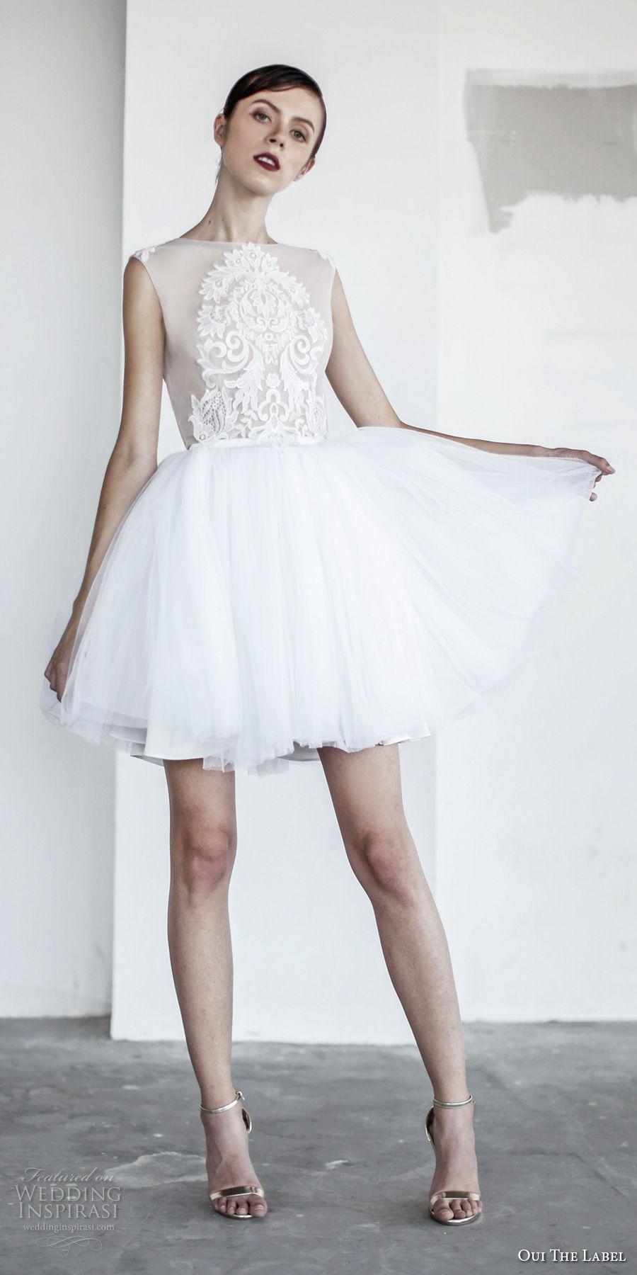 Oui The Label 2017 Wedding Dresses New Romantics Bridal Wedding Inspirasi Short Wedding Dress Beach Short Wedding Dress Wedding Dresses 2017 [ 1800 x 900 Pixel ]