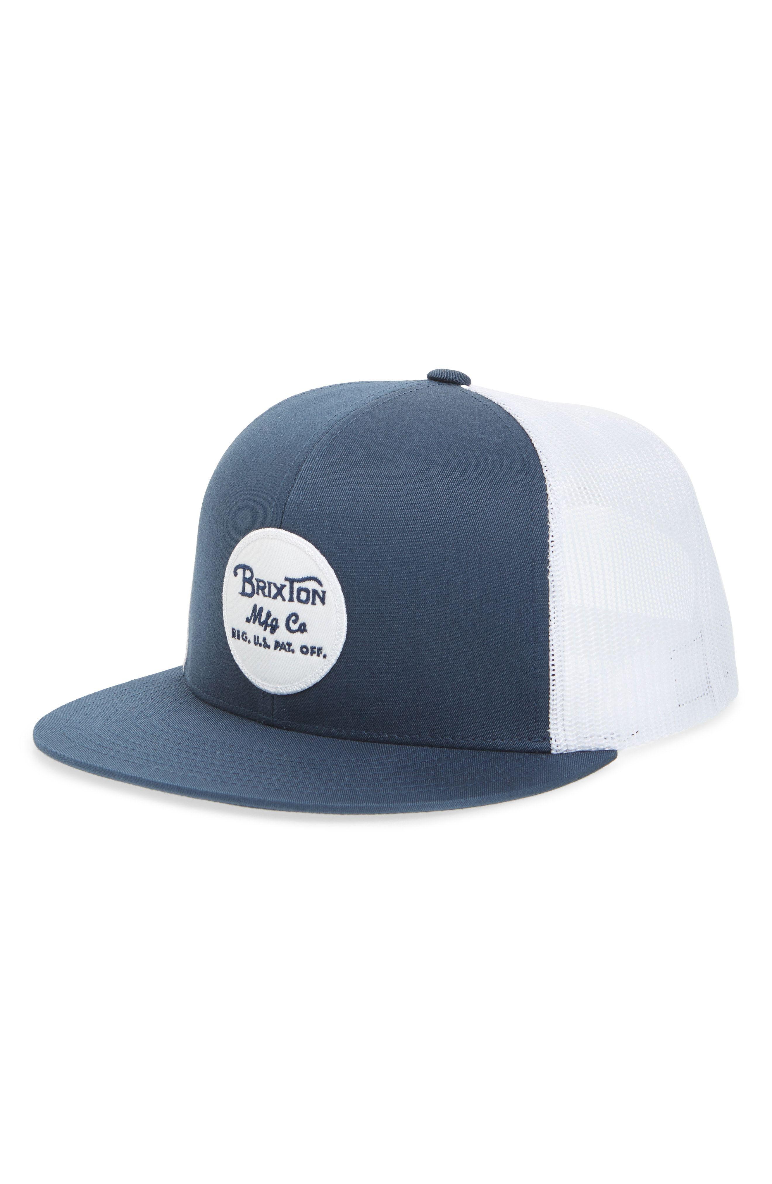 5e6373a3eb963 BRIXTON  BROOD  SNAPBACK CAP - BLUE.  brixton