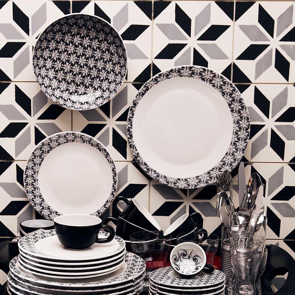 Conjunto De Xicaras De Cha Moon Spirale Oxford Porcelanas
