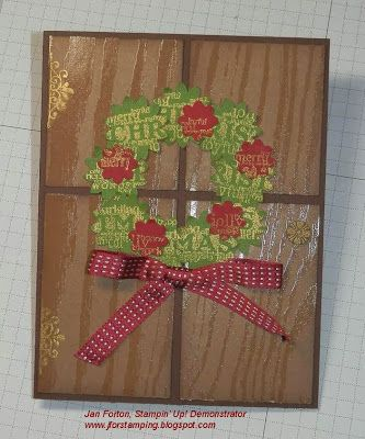 Janet Forton Stampin' Up!  From Mary Fish's blog on 12.1.13