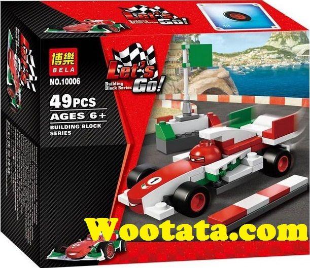 Mainan Building Block Series Cars Disney 10006 Disney Cars Disney Balap F1