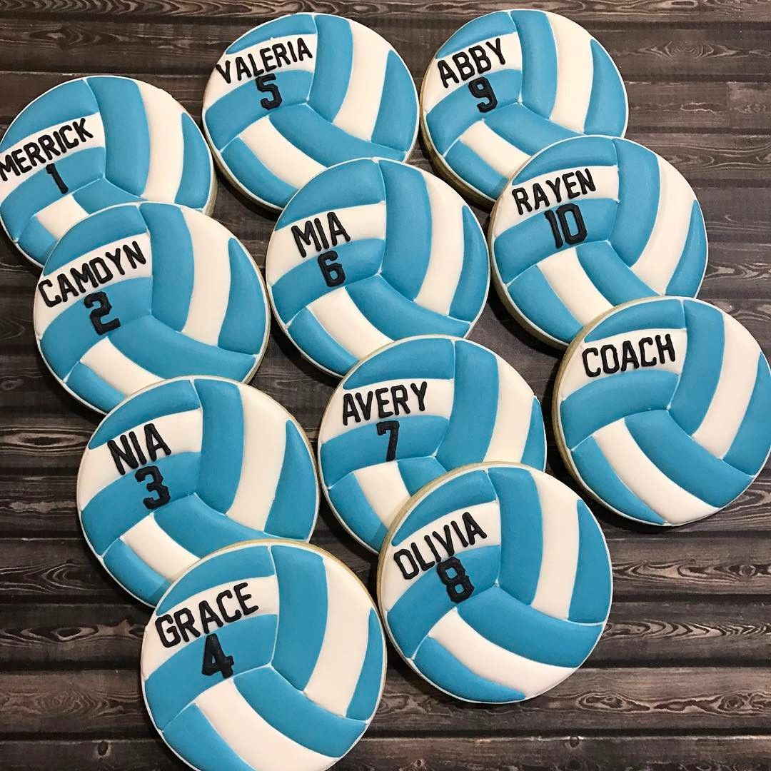 Pin By On Volleyball In 2020 Volleyball Cookies Custom Cookies Volleyball