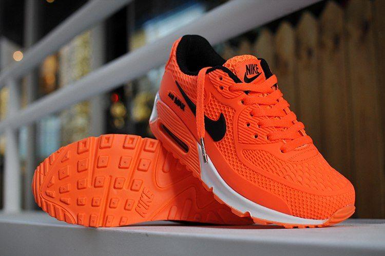 on sale b648b 0071d Nike Air Max 90 Kids Running Shoes Orange Black White