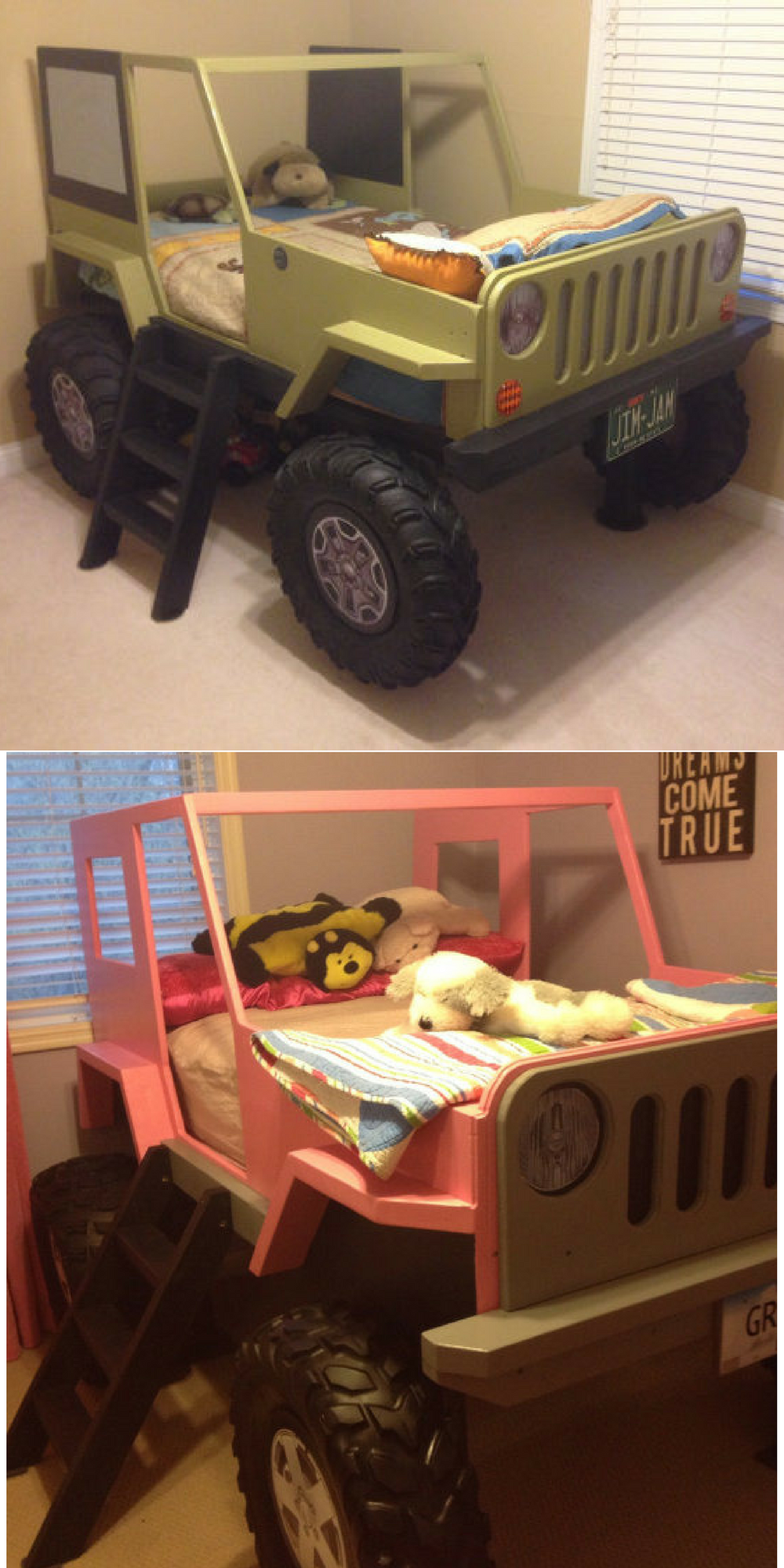 Instantly download plans for this Jeep Bed Twin Size Car