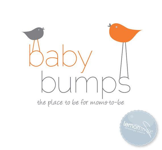 baby bumps premade logo design by lemonstripe on etsy 7500