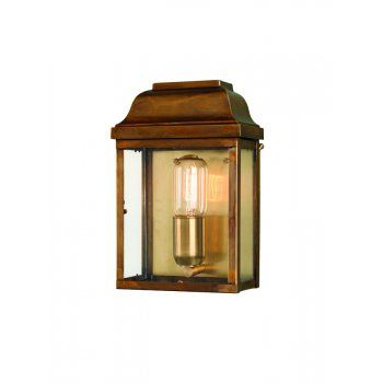Elstead lighting victoria solid brass outdoor wall lantern
