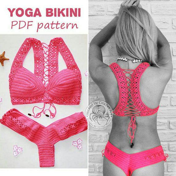 Crochet Bikini Pattern Beach Yoga Crochet Yoga Top Crochet