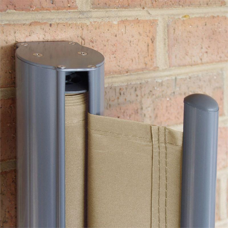 Outdoor Screen Repair Images: Pillar Products 2 X 3m Sandstone Retractable Patio Screen