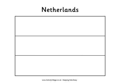 Netherlands Flag Colouring Page Actividades Para Preescolar