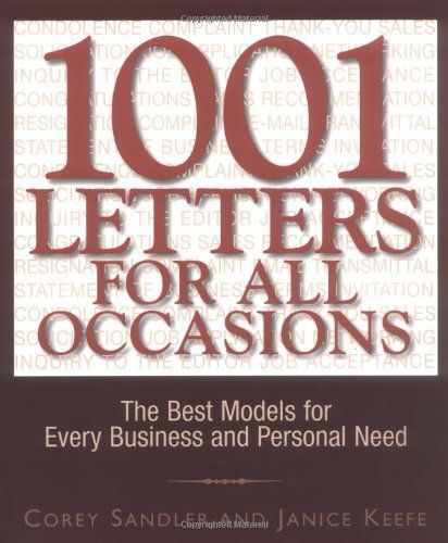 1001 Letters For All Occasions The Best Models For Every Business And Personal Need 21 90 Free Shipping Bigboxpower Business Writing Best Model Letters