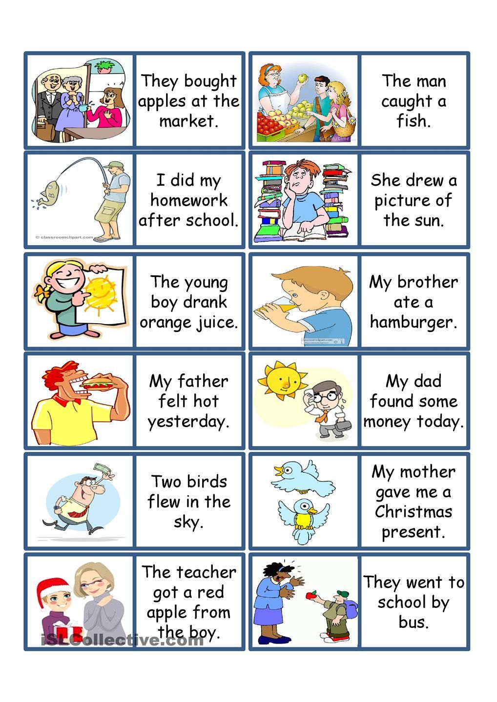 verb tenses games