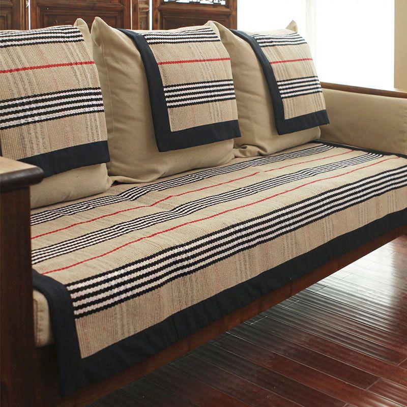 Sofa Cushion Cloth Cushion Simple Modern Non Slip Cotton Weaving Lattice Sofa Cover Cushions On Sofa Sofa Covers Home