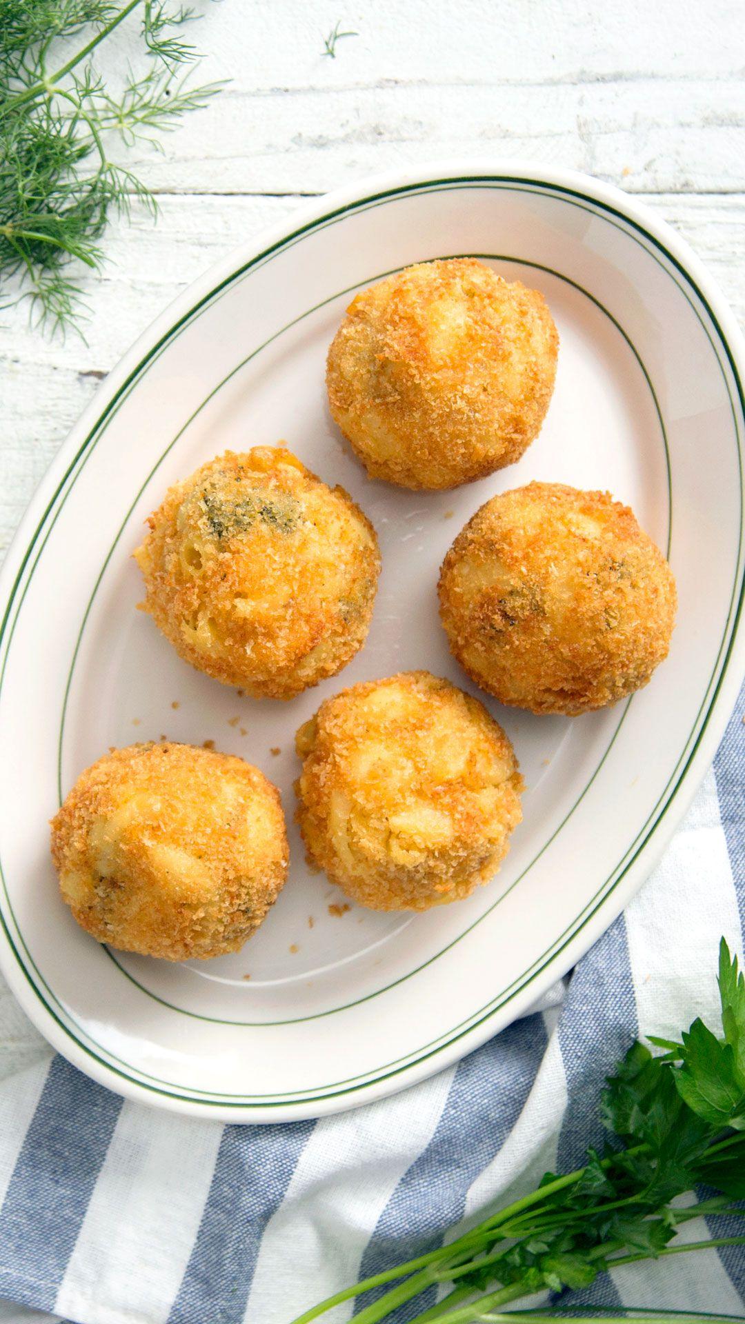 Broccoli Cheddar Potato Mac and Cheese Bombs