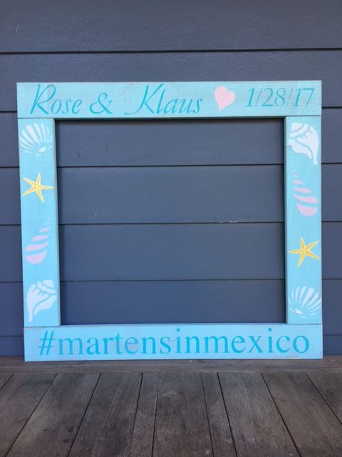 Beach Wedding Distressed Photobooth Frame Prop Can Be Customized To Match Your Outdoor Rustic Or Beach Theme Bridal Shower Photo Frame Prop Photo Booth Frame