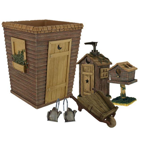 Outhouse Bathroom Set Outhouses Bath Accessories By Linda Spivey Outhouse Bathroom Decor Outhouse Bathroom Primitive Bathrooms