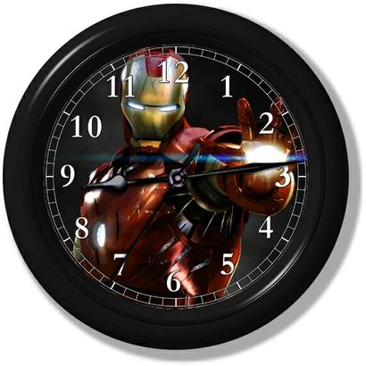 Iron Man Wall Clock on the redditgifts Marketplace. For Kai's room