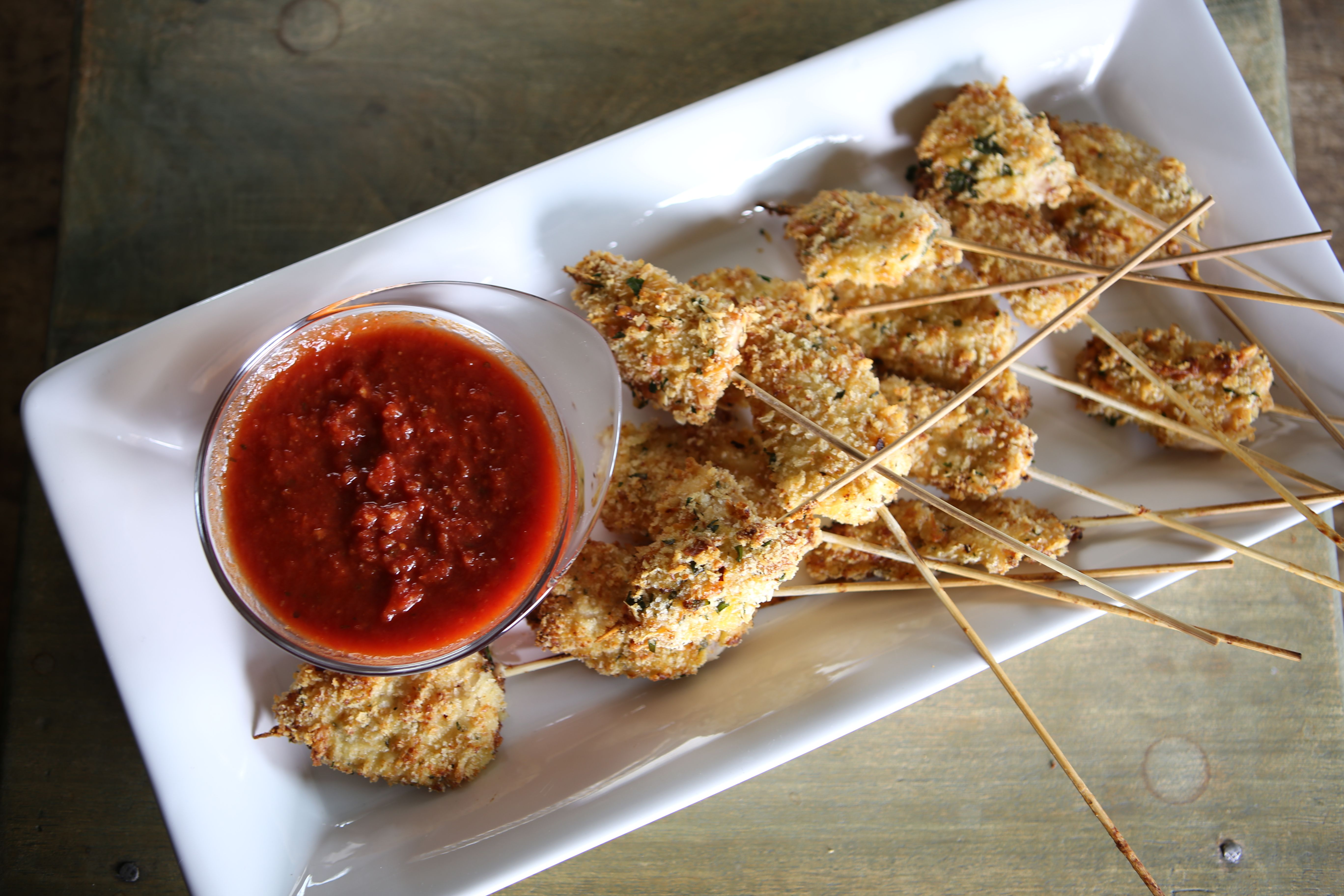 Chicken Parmesan Sticks Recipe Food, Food recipes