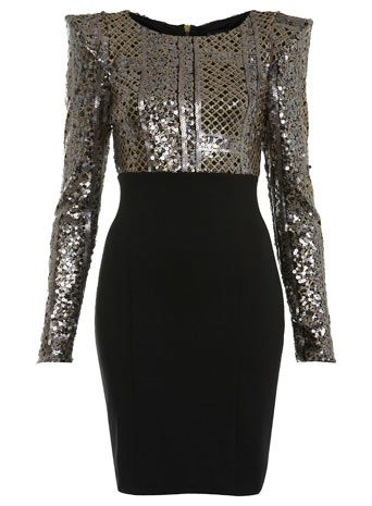 Miss Selfridge Long Sleeve Embellished Dress ...I will have to find somewhere to go if a dress like this is going be in my closet ughhhh it's gorg!