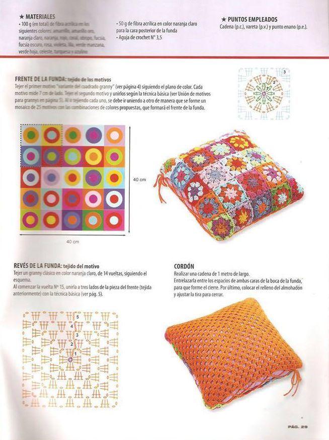 Esquema de cojin | simbología | Pinterest | Croché, Almohadones ...