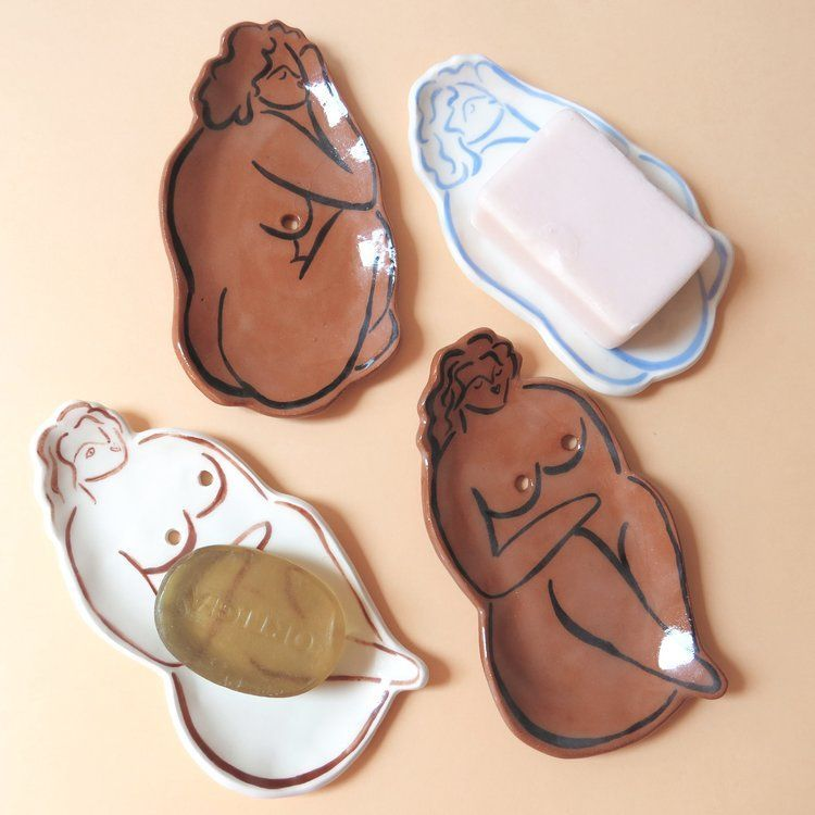 Photo of Nude soap dishes – Made to order — Liv & Dom #Dish #Dom #drainage #geschirr ha…